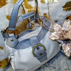 COACH leather off-white and gray hobo